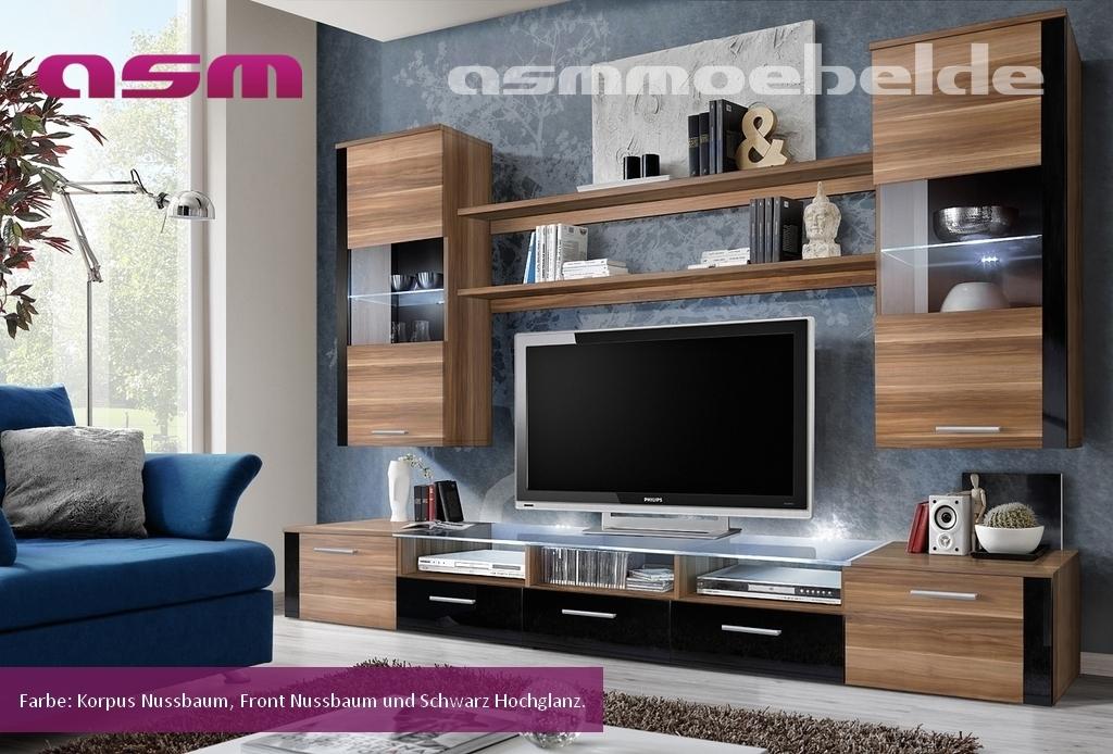 Wohnzimmer Anbauwand Ebay : Wohnwand Anbauwand Wohnzimmer Schrankwand FRESH HOCHGLANZ LED